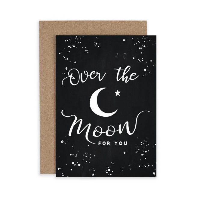 Over the Moon Congratulations New Baby Irish Greeting Card Consciously Made In Ireland