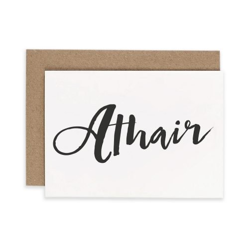 Irish Greeting Card Under the Willow Print Co. Consciously Made in Ireland Athair 'Father' Card