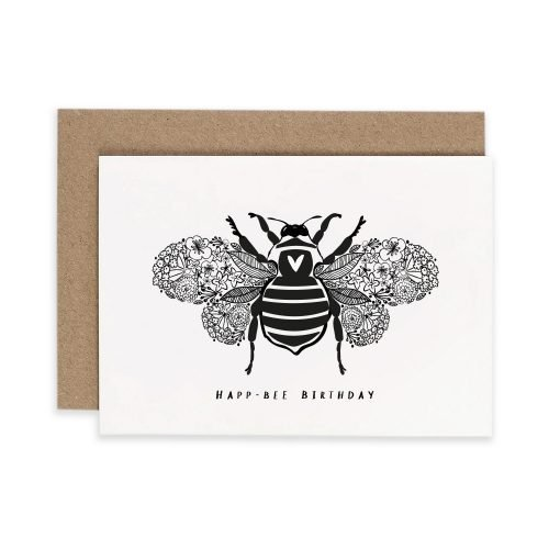 Happy Birthday Bumblebee Irish Greeting Card Consciously Made In Ireland