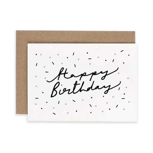 Hand Lettered Happy Birthday Irish Greeting Card Consciously Made In Ireland
