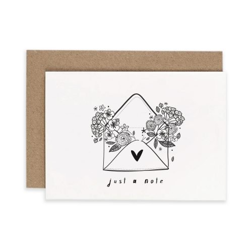 Just a Note 5 Pack Irish Greeting Card Consciously Made In Ireland