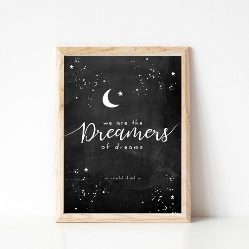 Under the Willow Print Co. We Are The Dreamers Of Dreams Kids Room Art Print Made in Ireland