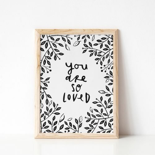 Under the Willow Print Co. You Are So Loved Kids Room Art Print Made in Ireland